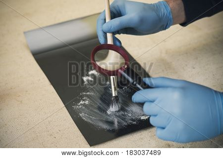 The Process Of Detecting Traces At The Scene Of The Crime