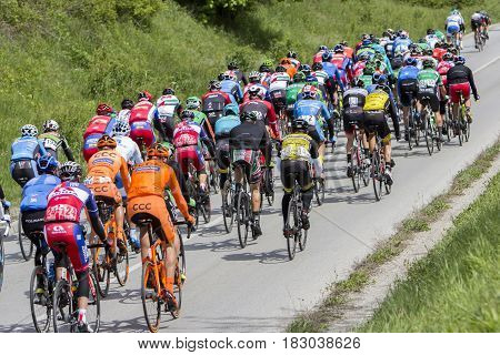 Tour of Croatia 6th stage Samobor - Zagreb ZAGREB CROATIA - APRIL 23 2017: Bikers racing during 6th stage race in Tour of Croatia international cycling race run along Adriatic coast and inland.
