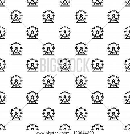 Giant ferris wheel pattern seamless in simple style vector illustration