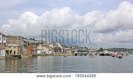 Falmouth by the River Fal in Cornwall
