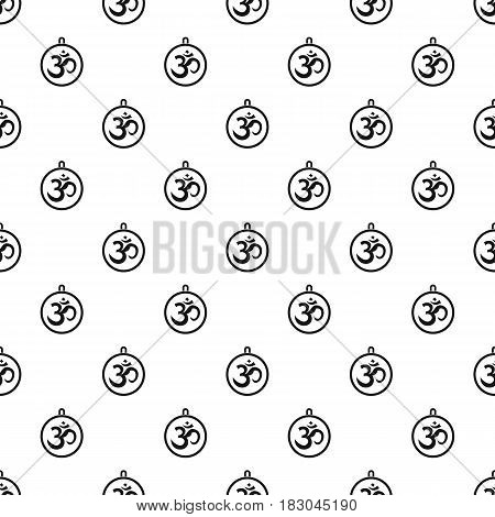 Indian coin pattern seamless in simple style vector illustration