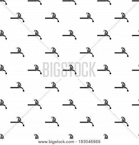 Burning match pattern seamless in simple style vector illustration