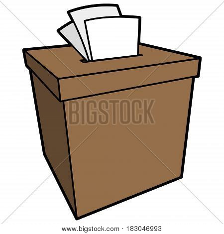 A vector illustration of a ballot box.