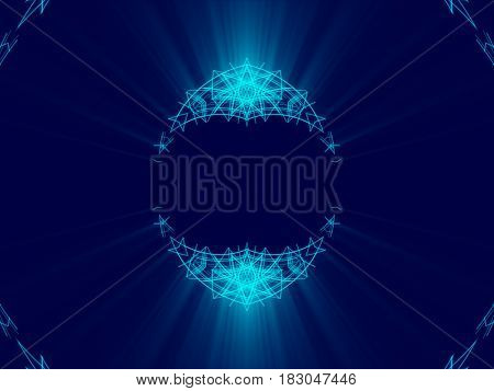 blue abstract background lines and shine light