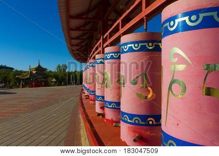 Buddhist temple Golden Tenement of Buddha Shakyamuni. Elista Kalmikia.