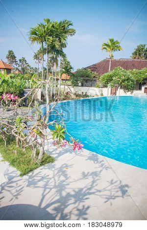 Beautiful hotel pool in Bali Indonesia, Seminyak