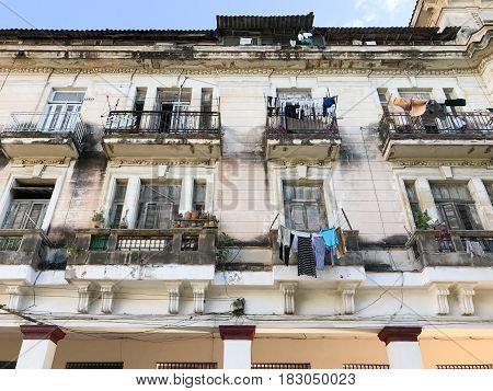 Cuban Apartment Building - Havana, Cuba