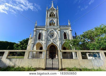 Sacred Heart of Jesus Parish in the Vedado neighborhood of Havana Cuba. Built in 1892 it is Vedado's oldest church.