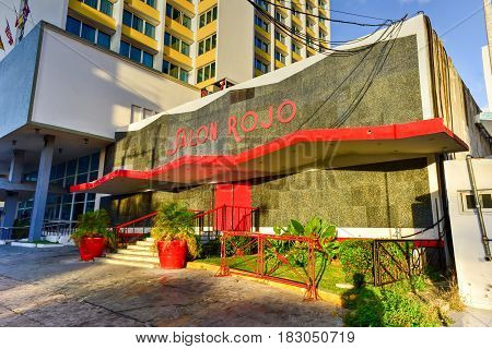 Salon Rojo - Havana, Cuba