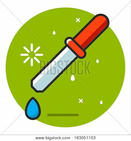 Pipette medical icon illustration design art rasterized