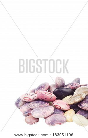 Heap Of Violet Beans, Isolated