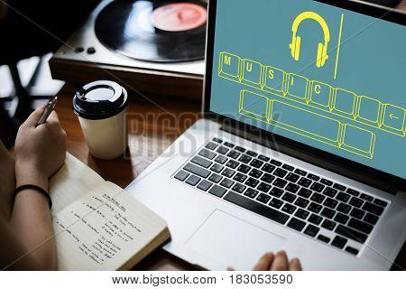 Music Audio Headphone Entertainment Graphic