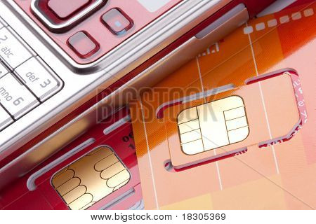 Mobile Phone With Sim Cards