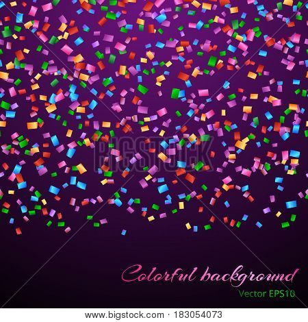 Glitter sparkle endless background with iridescent confetti