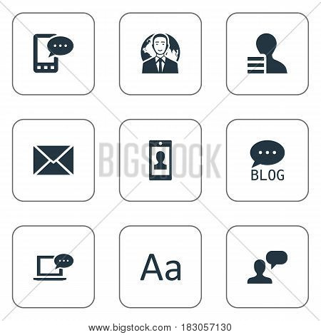 Vector Illustration Set Of Simple Newspaper Icons. Elements Cedilla, Gain, Site And Other Synonyms Debate, International And Gain.