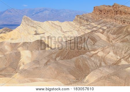 View From Zabriskie Point, California, Usa.