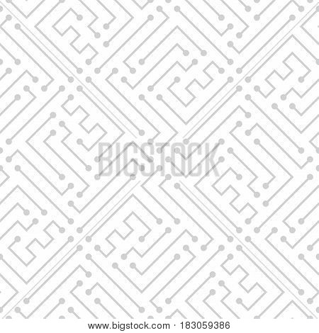 Abstract Geometric Electric Circuit Cyberpunk Pattern Background