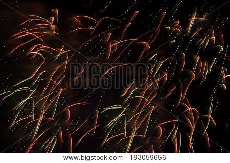 Fireworks in the night sky. Can be used as a background