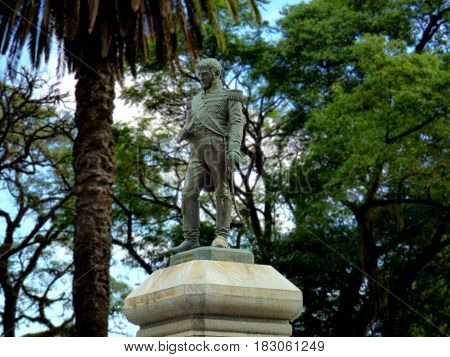 General Manuel Belgrano Statue in Tucumán, Argentina. Monument of Belgrano located in a square in Tucumán, north of  Argentina. Manuel Belgrano statue in Tucumán province.