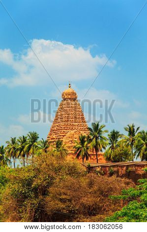 Brihadeeswara Temple in Thanjavur Tamil Nadu India. One of the world heritage sites UNESCO.