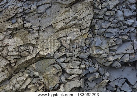 Texture in the form of broken stone rocks rocky.