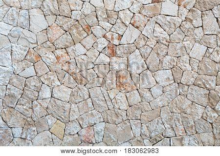 Stone background from crushed limestone  broken broken