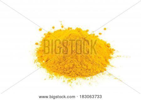 Tumeric - curcuma spice isolated on white