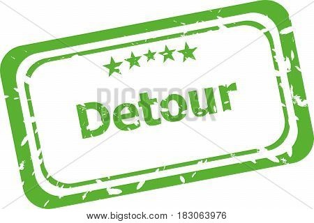Detour Word Stamp Isolated On White Background