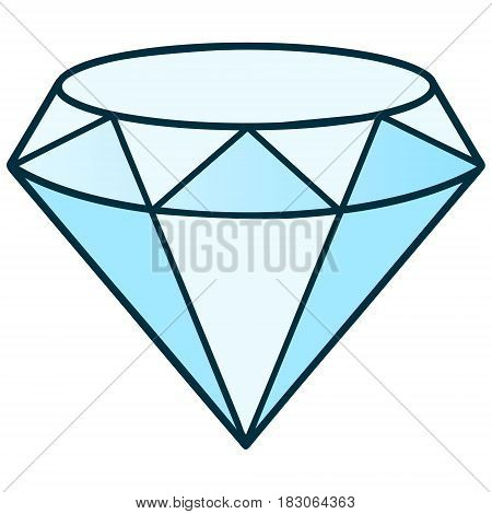 A vector illustration of a shinny Diamond.