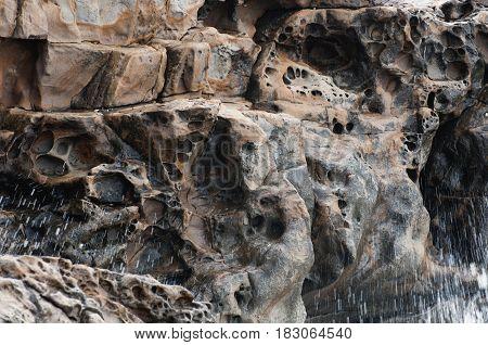 The Quaint Texture Of The Coastal Rock 3