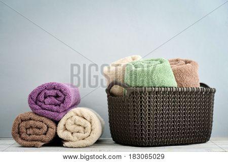 Bath Towels Of Different Colors