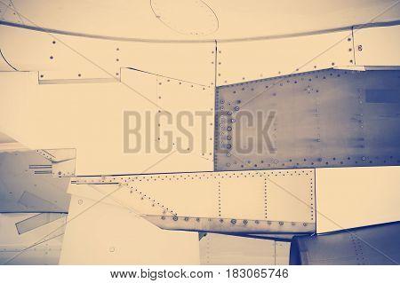 instagram tone grunge background riveted metal industrial construction frame