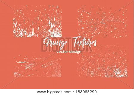 Grunge paint texture set. Distress black rough background. Noise dirty rectangle stamp. Dirty artistic background. Vector illustration