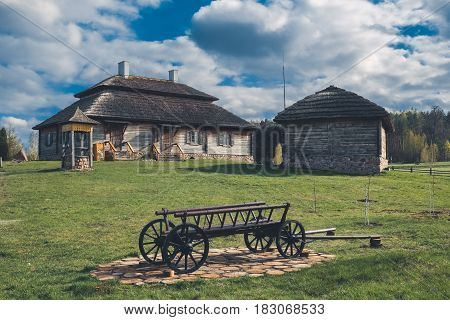 Ethnic House On Rural Landscape - Birthplace Of Tadeusz Kosciuszko In Kossovo Village, Brest Region,