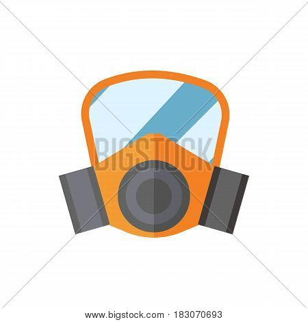 Respiratory protection mask vector illustration protection tool isolated industry safety for human organs. Dangerous respiratory pollution gas caution protect personal sign.