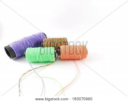 Four waxed threads of different real colors