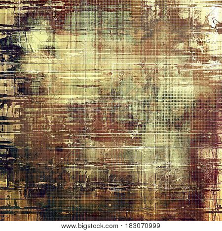 Art vintage background with space for text and different color patterns: yellow (beige); brown; gray; pink; cyan; white