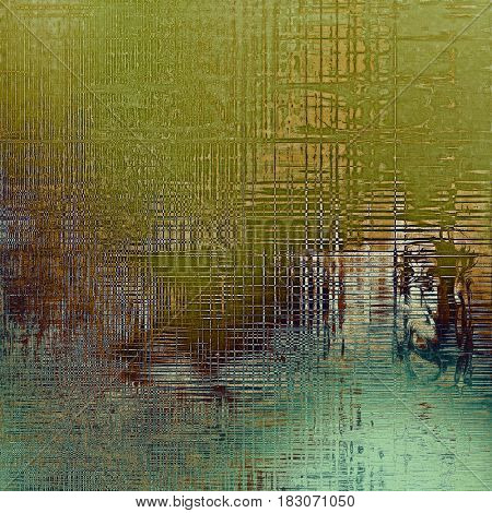Old grunge textured background. With different color patterns: yellow (beige); brown; green; gray; blue; cyan