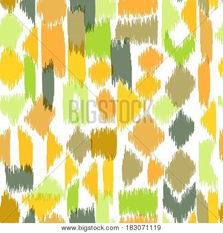 Motley seamless pattern with abstract hatch shapes. Pattern may be used for wallpaper, home decor textile, fashion fabric, wrapping paper, web, print, cards background.