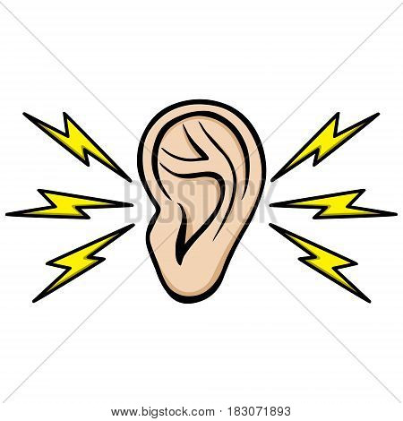 A vector illustration of an Earache icon.