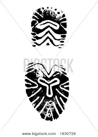 Female Shoe Print
