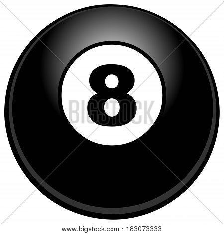 A vector illustration of an 8 ball.