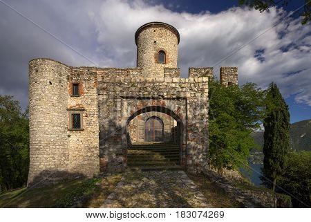 Rocca Martinengo Castle on Monte Isola on Iseo Lake Italy