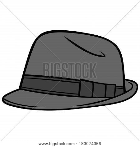 A vector illustration of a Fedora hat.
