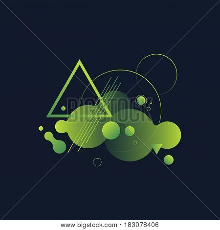 Abstract modern geometric composition design element can be used background poster brochure backdrop leaflet book cover vector illustration