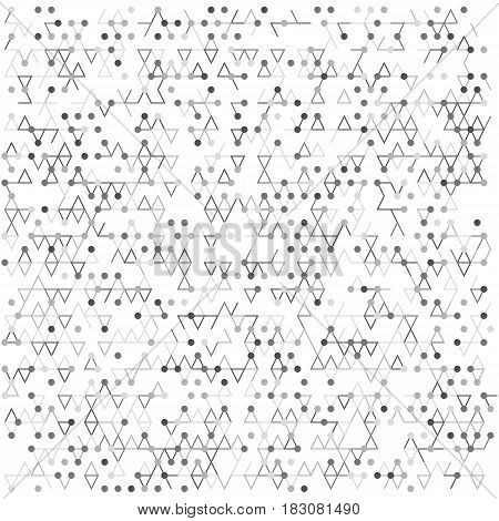 Abstract vector dot pattern. Modern digital background. Technology texture  with point and line. Digital network connect illustration.