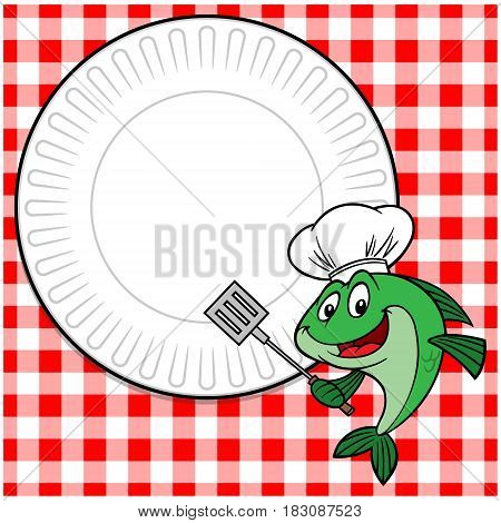 A vector illustration of a Fish Cookout invite