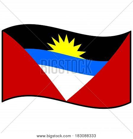 A vector illustration of a Antigua and Barbuda flag.