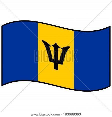 A vector illustration of a Barbados flag.