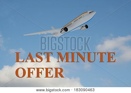 Last Minute Offer - Business Concept
